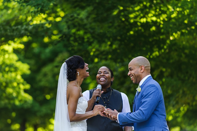 moment of laughter during the ceremony