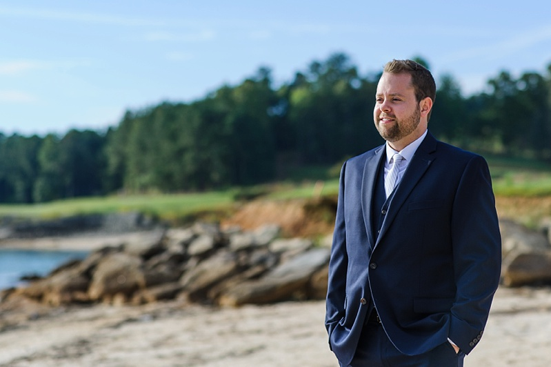 groom portrait at lake lanier islands