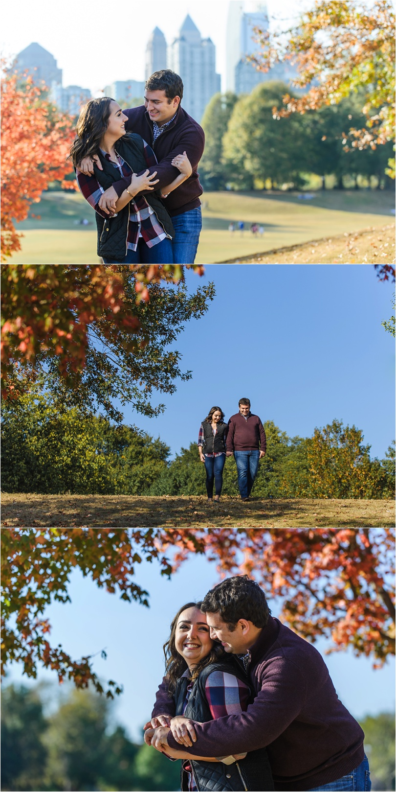 piedmont park fall engagement