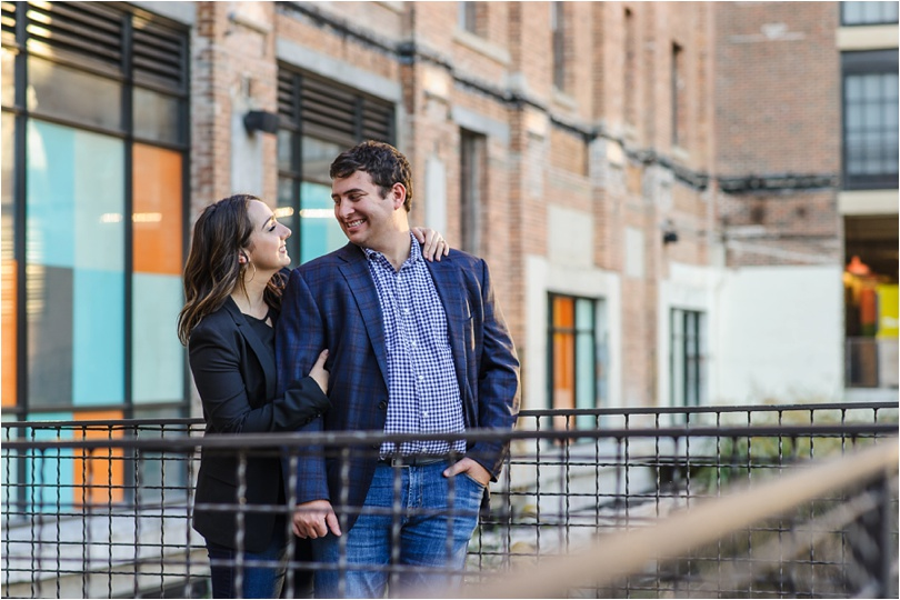 ponce city market engagement photos