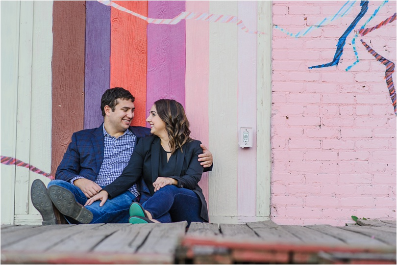 paris on ponce backdrop for engagement photos