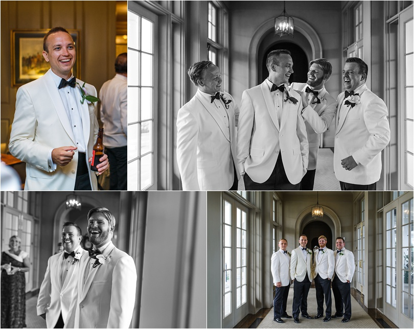 small group of groomsmen