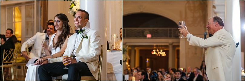 reactions to dad's welcome toast