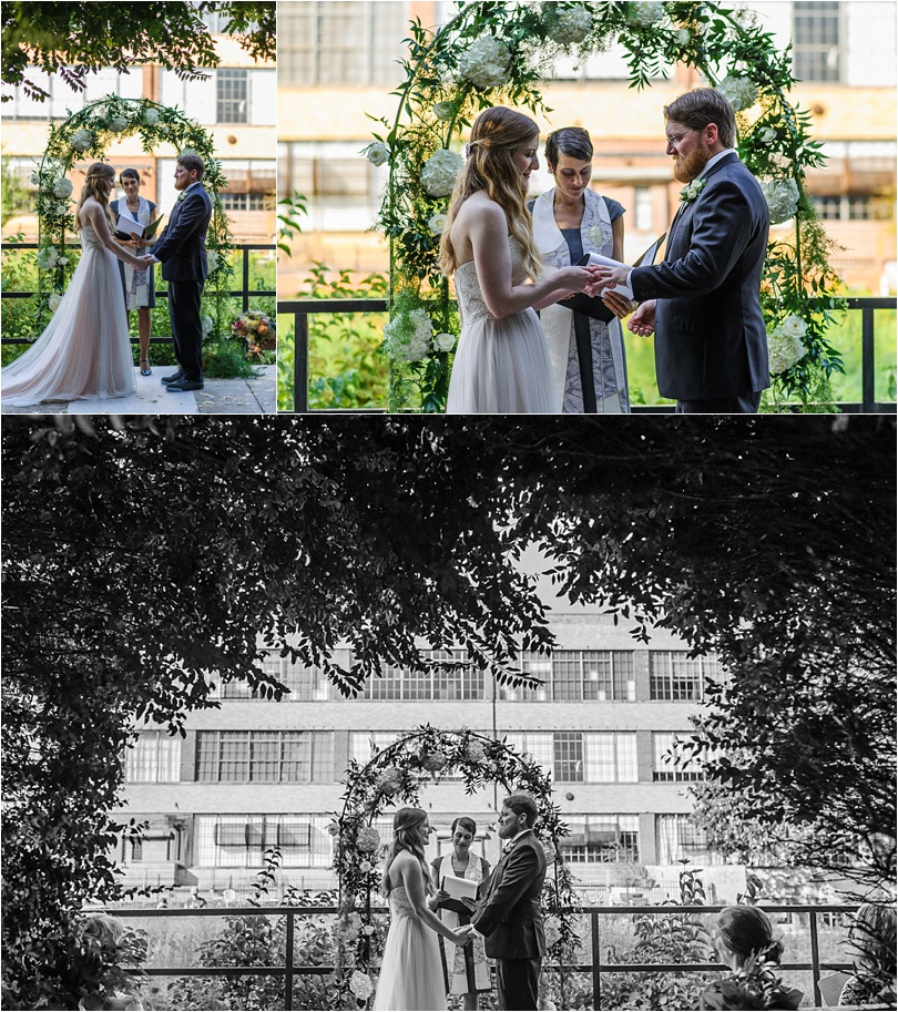 the atlanta beltline was the backdrop for this small ceremony