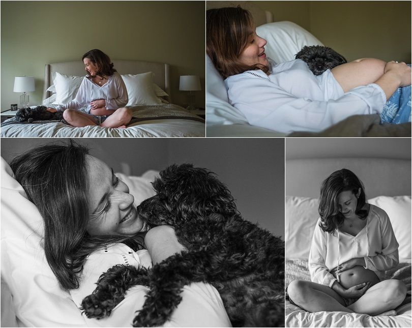 mama and pup maternity session
